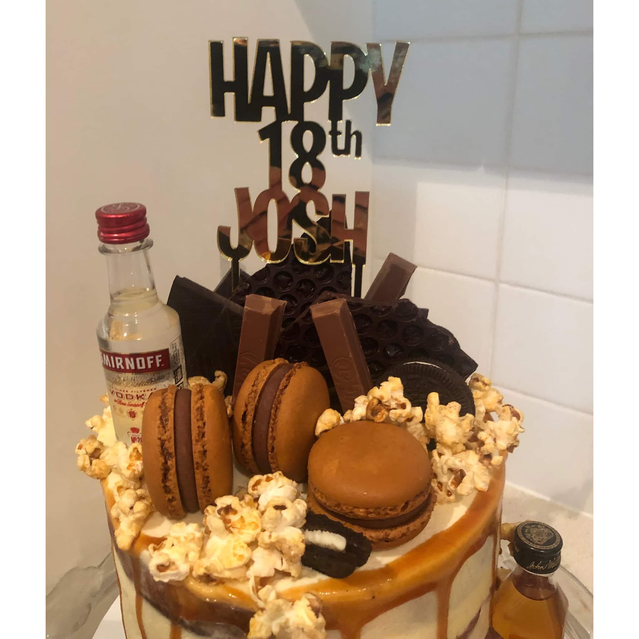 Superb Personalised Cake Topper Birthday Acrylic Happy Age Name Personalised Birthday Cards Xaembasilily Jamesorg