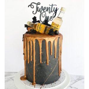 21st Birthday Cake Topper Acrylic Rose Gold Mirror Twenty One MTO FB