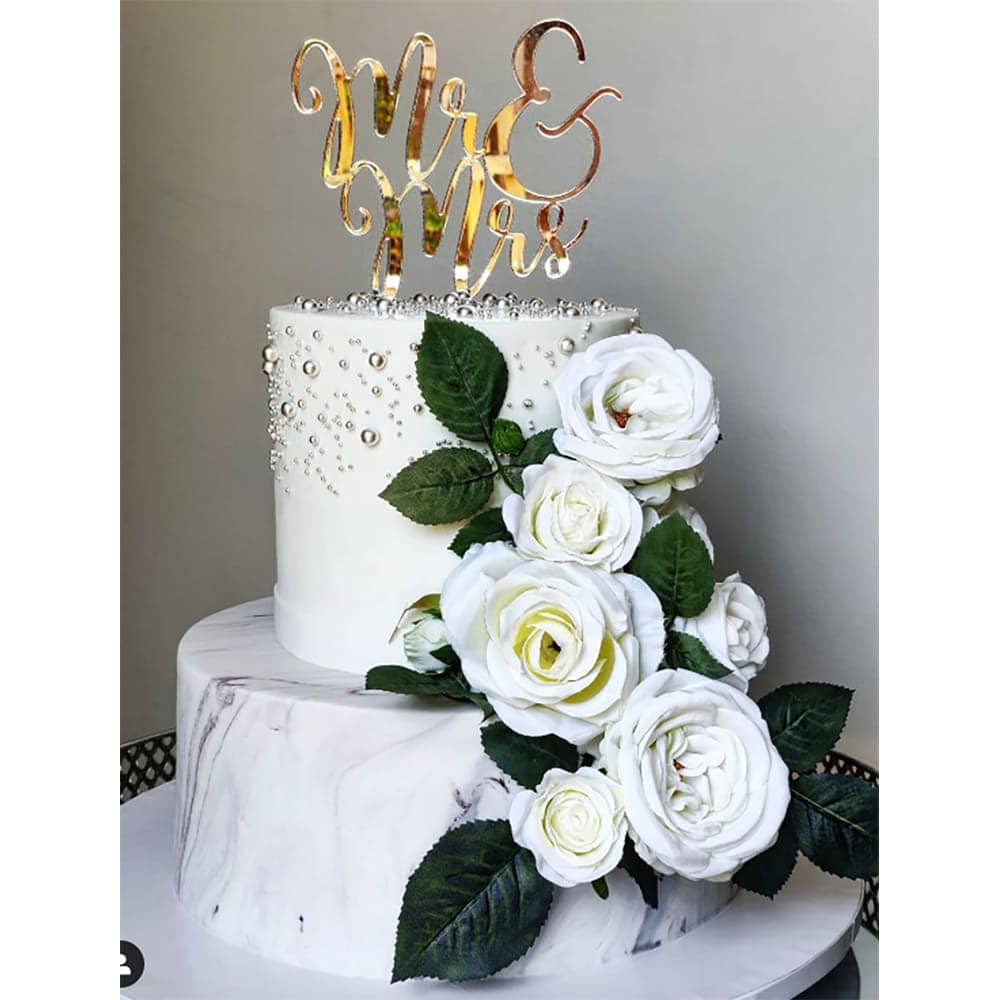 Wedding Mr And Mrs Cake Topper Acrylic Rose Gold Silver Mirror Pink Fe Creations For You