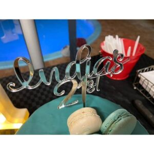 Personalised Birthday Cake Topper Acrylic Name Any Age MTO FD